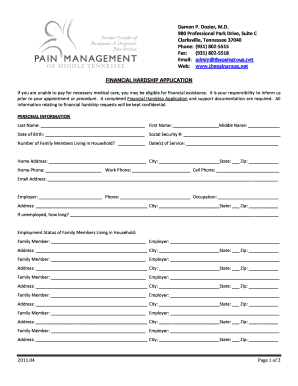 alberta financial hardship application form