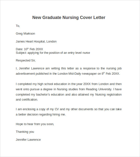 cover letter template graduate application