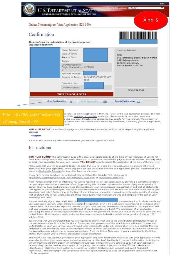 nonimmigrant visa electronic application ds 160 form