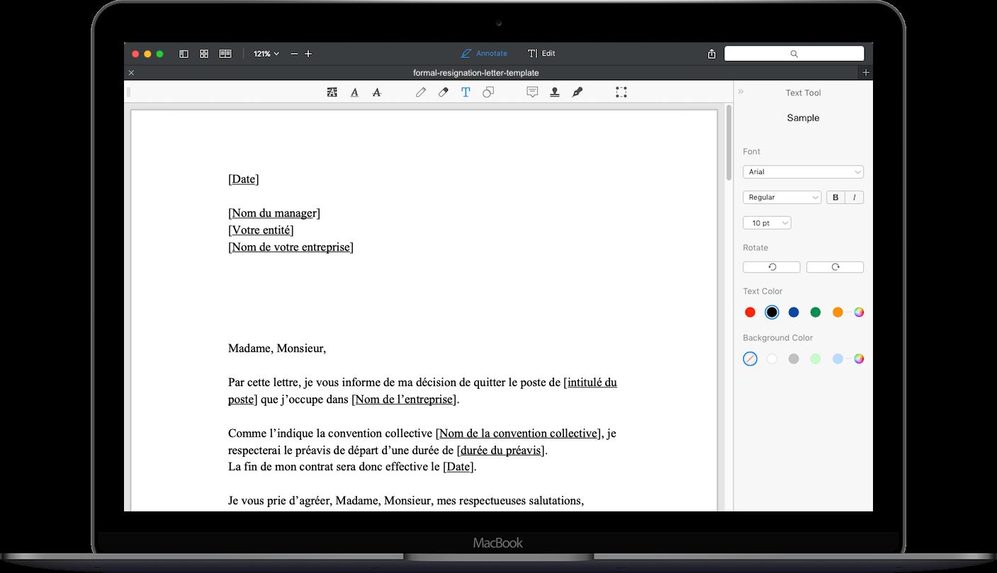 application pour ecrire une lettre