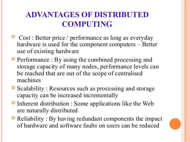 applications of distributed computing system
