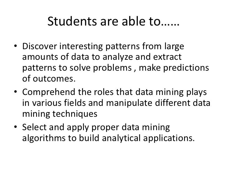 applications of data mining in various fields