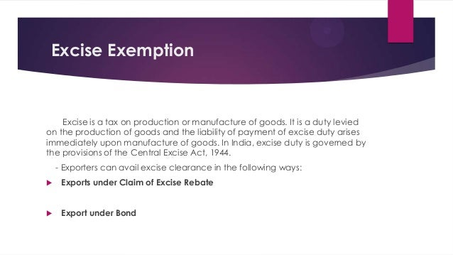 excise tax act application for refund rebate