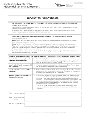 blank lease application commercial form