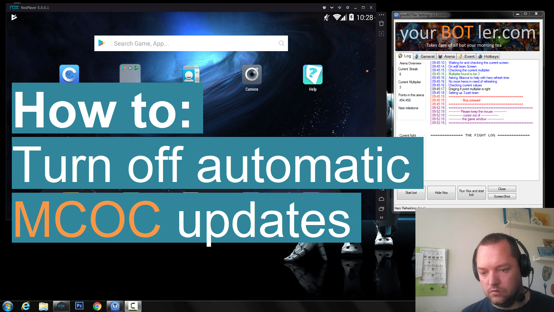 adobe application updates turn off