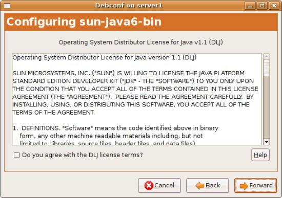 this application requires a java runtime environment