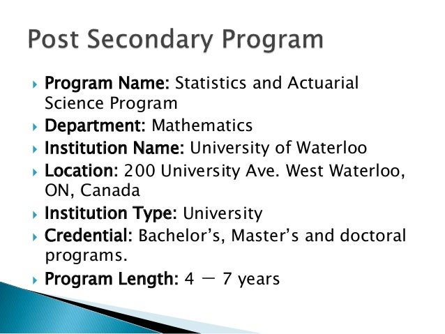 university of waterloo application deadline