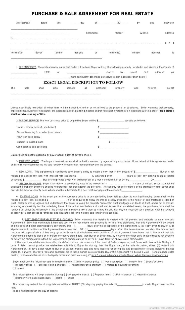 application for sale of property