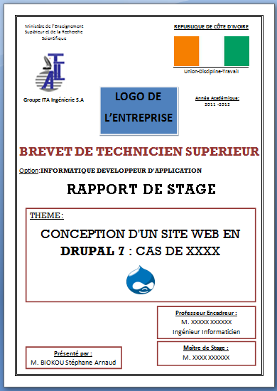 rapport de stage developpement application web