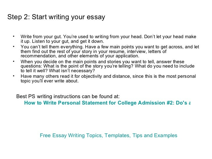 how to write a college application essay format