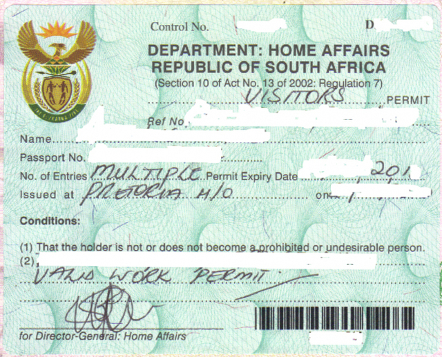 mali visa application form south africa