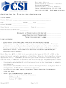education assistance payment application form