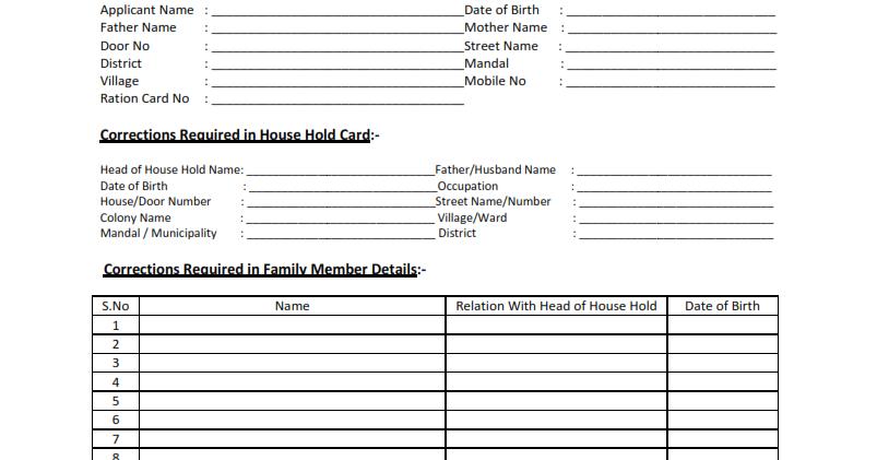 voter id card address change application form 8a online