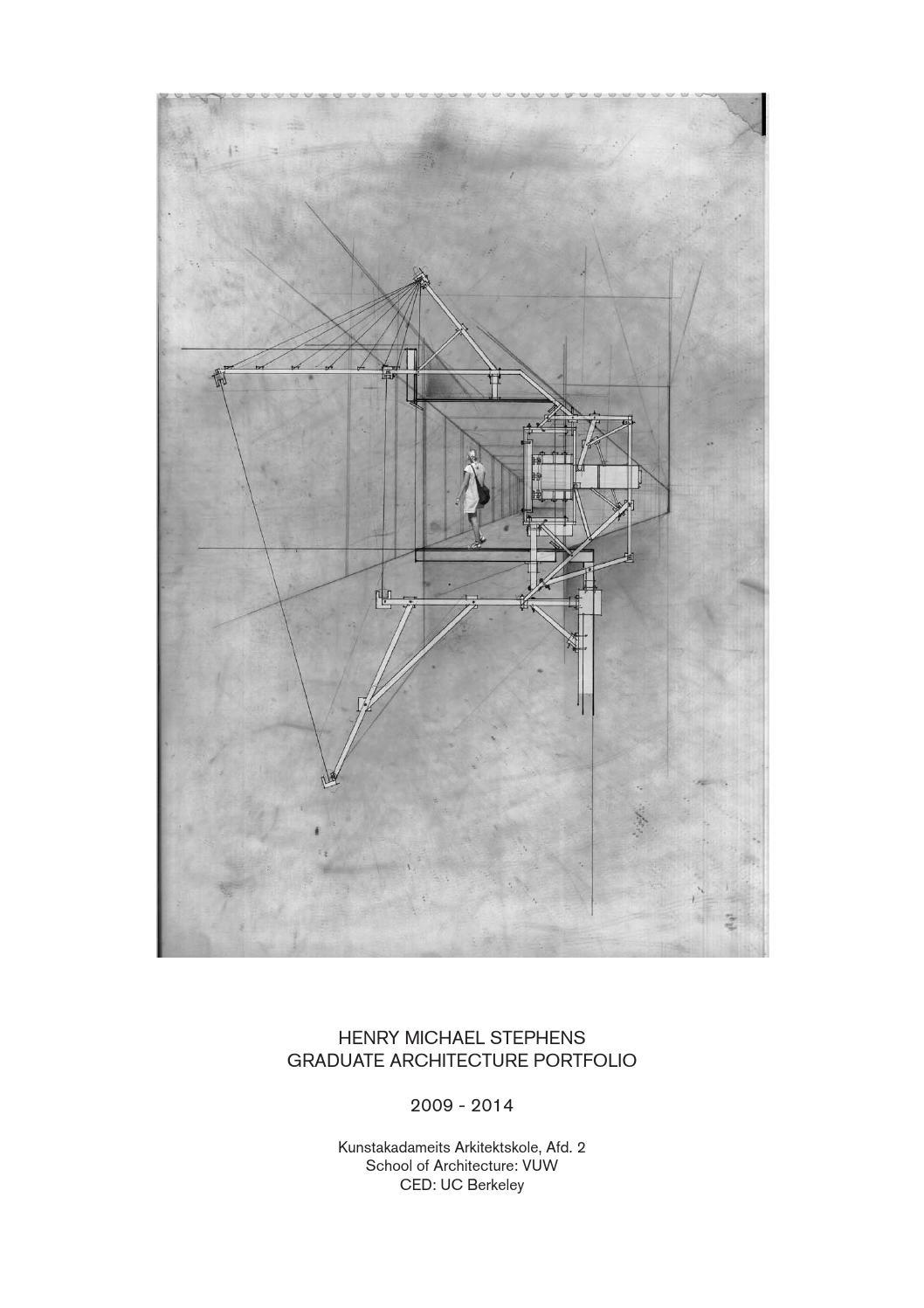 architecture portfolio for masters application