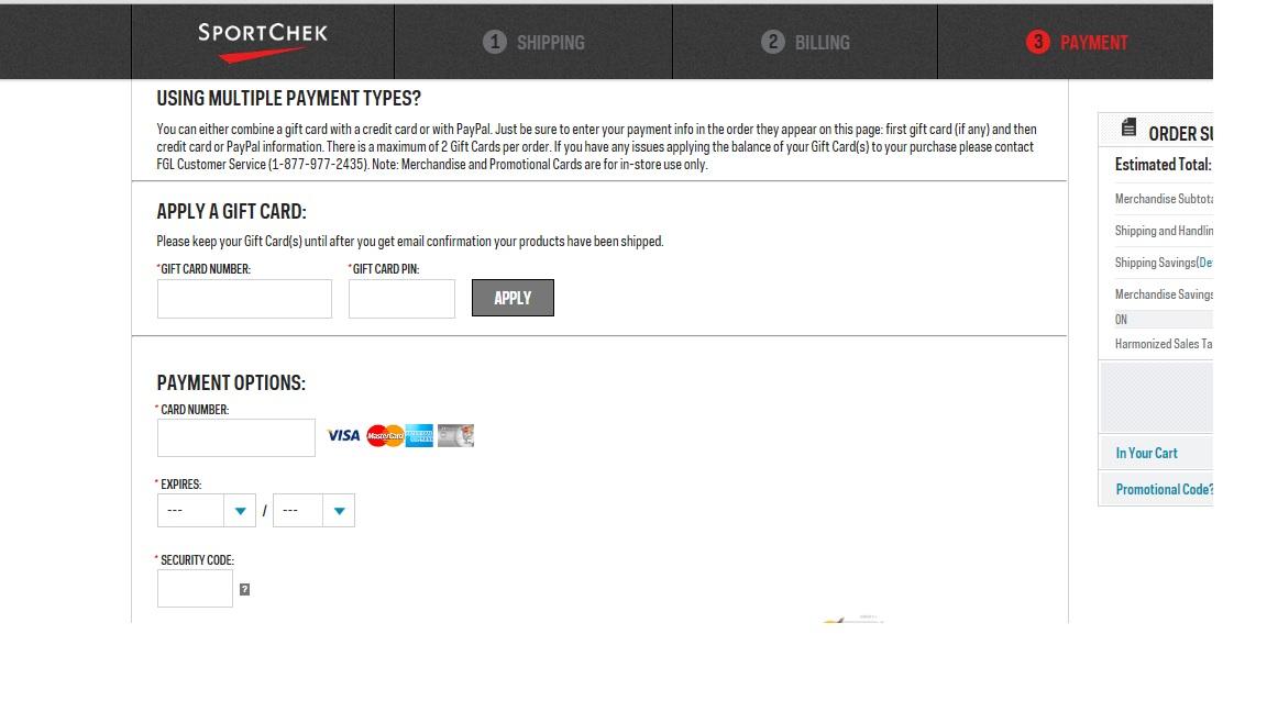 sport chek mastercard online application