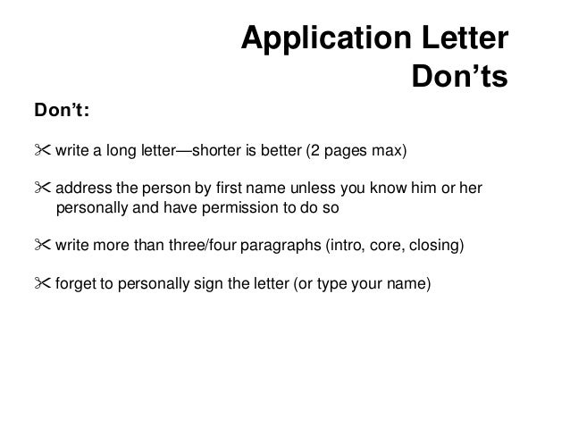 how to write application letter for training course