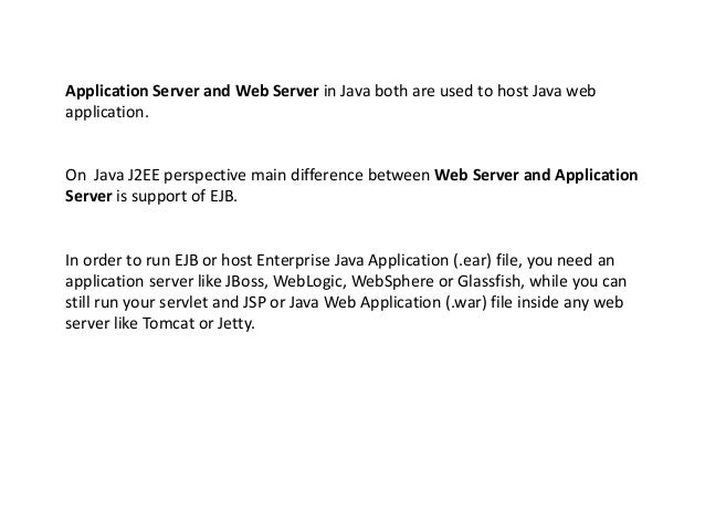 difference between tomcat and websphere application server