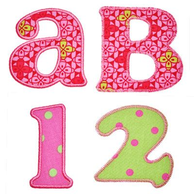applique alphabet letters free machine embroidery