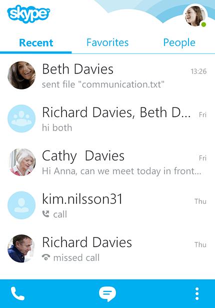 application skype pour android gratuit