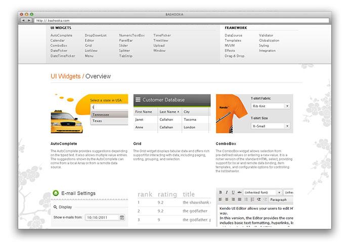 best ui framework for web application