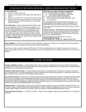 federal concealed carry permit application