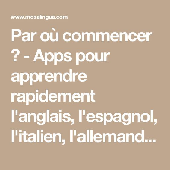 apprendre l anglais application android