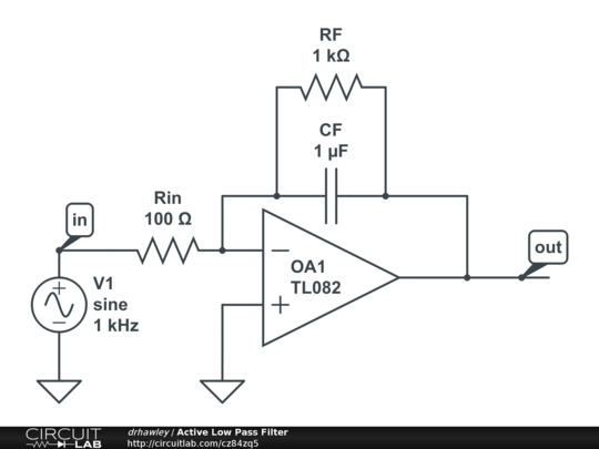 active low pass filter applications