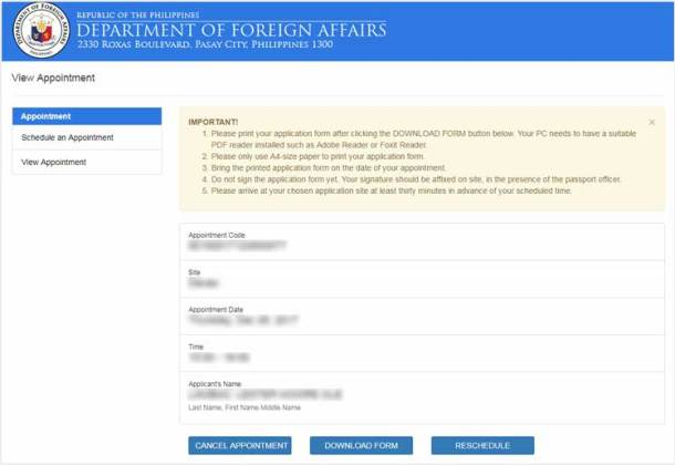 lost passport application form philippines