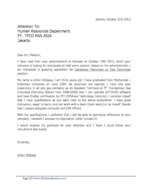 cover letter for job application for fresh graduate