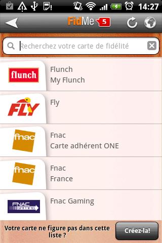 application pour carte fidelite iphone