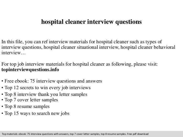 application for employment as a cleaner