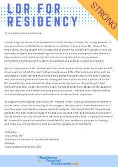 residency application personal statement examples