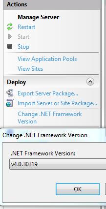 deploy asp net application to iis
