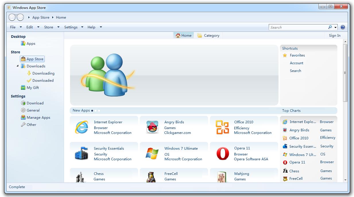 installer application sans windows store