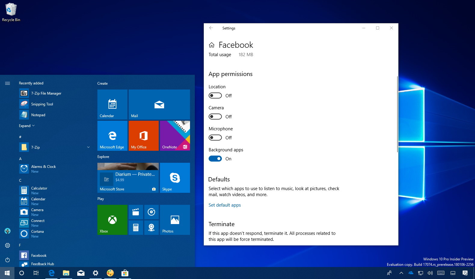 all application packages permissions windows 10