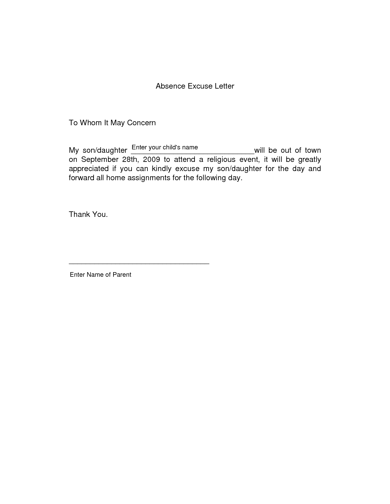 application letter example for students