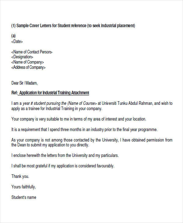 application letter for working student