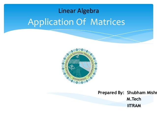 application of linear algebra in daily life