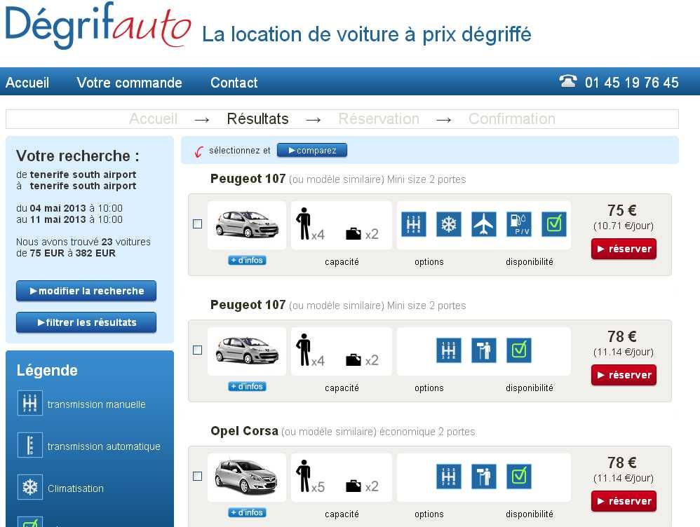 application pour louer une voiture