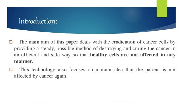 applications of nanotechnology in cancer treatment