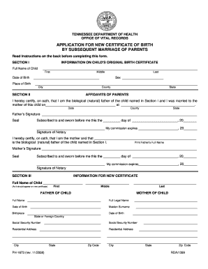 birth certificate correction application form