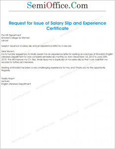 application for release letter from company