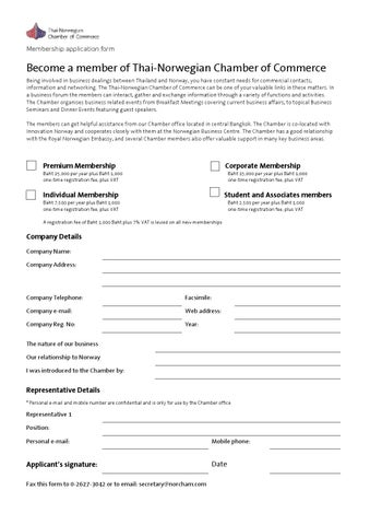 chamber of commerce application form