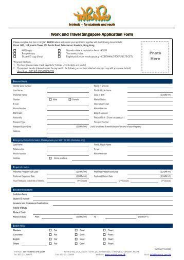 cic travel document application form
