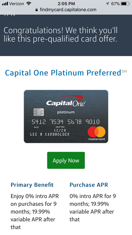 costco capital one credit card application