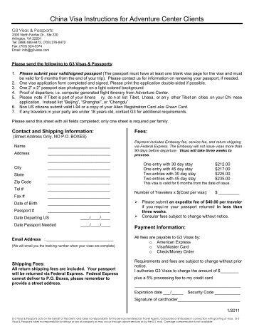 china visa application form 2018