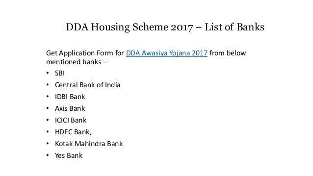 dda housing scheme 2017 online application