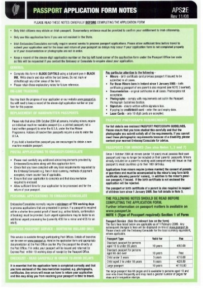 dfa passport application form 2018