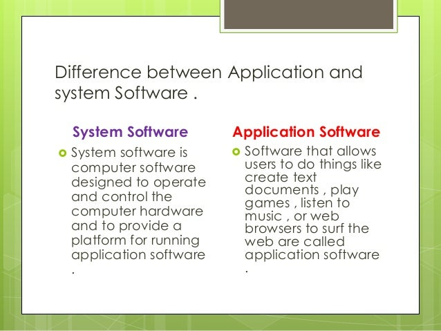 difference between platform and application