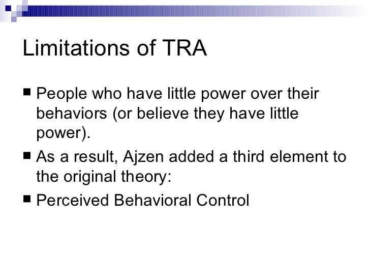 application of theory of reasoned action